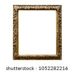 classic golden canvas painting... | Shutterstock . vector #1052282216