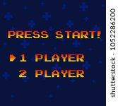 press start to play | Shutterstock .eps vector #1052286200