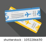 flat design of airline travel... | Shutterstock .eps vector #1052286650