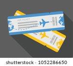 flat design of airline travel...   Shutterstock .eps vector #1052286650