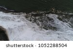 aerial top down photo white... | Shutterstock . vector #1052288504