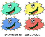 germs and bugs in different... | Shutterstock . vector #105229223