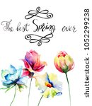 title the best spring ever with ... | Shutterstock . vector #1052299238