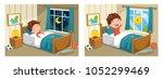vector illustration of kid... | Shutterstock .eps vector #1052299469