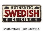 authentic swedish cuisine... | Shutterstock .eps vector #1052305916