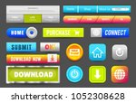 collection of web buttons ... | Shutterstock .eps vector #1052308628