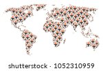continental atlas collage... | Shutterstock . vector #1052310959