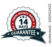 14 days money back illustration | Shutterstock .eps vector #1052312423