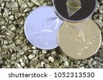 cryptocurrency ethereum on...   Shutterstock . vector #1052313530