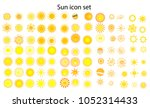 sun icon set  different icons... | Shutterstock .eps vector #1052314433