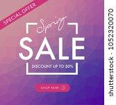 spring sale social media square ...   Shutterstock .eps vector #1052320070