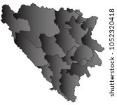 bosnia herzegovina cantons map...   Shutterstock .eps vector #1052320418