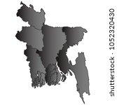 bangladesh map black gradient...   Shutterstock .eps vector #1052320430