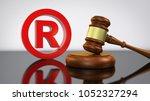 registered trademark law and... | Shutterstock . vector #1052327294