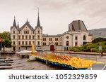 aile castle in vevey  canton... | Shutterstock . vector #1052329859