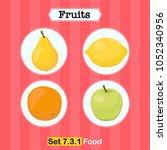 fruits vector illustration ... | Shutterstock .eps vector #1052340956