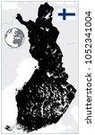 finland black map. no text....   Shutterstock .eps vector #1052341004