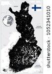 finland black map. highly...   Shutterstock .eps vector #1052341010