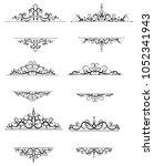 vintage vector swirl frame set   Shutterstock .eps vector #1052341943