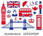 icons on a theme of england | Shutterstock .eps vector #105234569