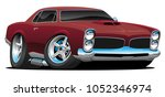 classic american muscle car... | Shutterstock .eps vector #1052346974