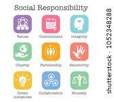social responsibility solid...   Shutterstock .eps vector #1052348288