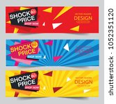 shock price up to 80  off... | Shutterstock .eps vector #1052351120