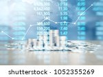 coin stacks   business money... | Shutterstock . vector #1052355269