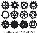 machine gear collection ... | Shutterstock .eps vector #105235790
