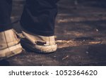 closeup.selective focus hipster ... | Shutterstock . vector #1052364620