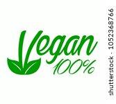 icon vegan  for vegan food.... | Shutterstock .eps vector #1052368766