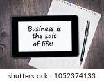 business is the salt of life ... | Shutterstock . vector #1052374133