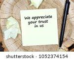 we appreciate your trust in us. ... | Shutterstock . vector #1052374154