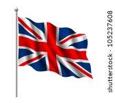 flag of the united kingdom ... | Shutterstock .eps vector #105237608