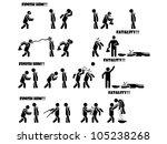 icon man fatality 3 di 3 | Shutterstock . vector #105238268