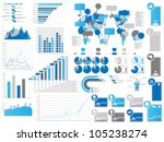 infographics elements 3 blie | Shutterstock . vector #105238274
