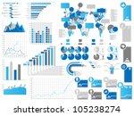 infographics elements 3 blie | Shutterstock . vector #105238274