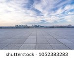 empty floor or square with... | Shutterstock . vector #1052383283