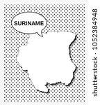 pop art map of suriname   Shutterstock .eps vector #1052384948