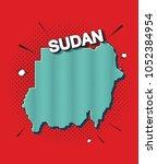 pop art map of sudan   Shutterstock .eps vector #1052384954