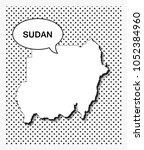 pop art map of sudan   Shutterstock .eps vector #1052384960