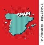 pop art map of spain   Shutterstock .eps vector #1052384978