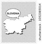 pop art map of slovenia   Shutterstock .eps vector #1052385014