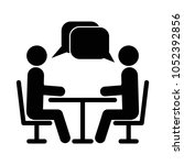 two people at the table icon.... | Shutterstock .eps vector #1052392856