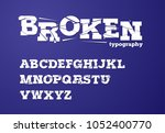 broken  shattered  fragmented... | Shutterstock .eps vector #1052400770