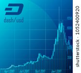 graph of dash cryptocurrency in ... | Shutterstock .eps vector #1052400920
