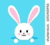 easter rabbit or cute easter... | Shutterstock .eps vector #1052400956