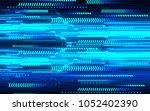 binary circuit board future... | Shutterstock .eps vector #1052402390
