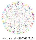 psychedelic growing percent... | Shutterstock .eps vector #1052412218