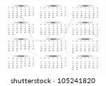 2013 new calendar in spanish | Shutterstock .eps vector #105241820